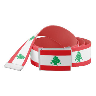 Patriotic Belt with flag of Lebanon