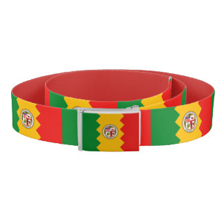 Patriotic Belt with flag of Los Angeles, U.S.A.
