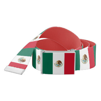 Patriotic Belt with flag of Mexico