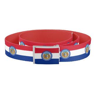 Patriotic Belt with flag of Missouri, U.S.A.
