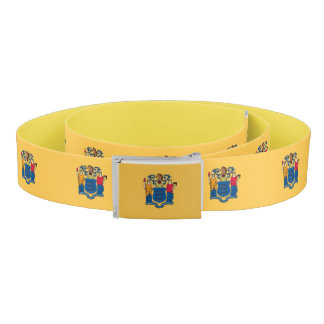Patriotic Belt with flag of New Jersey, USA