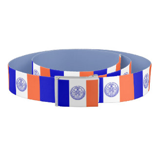 Patriotic Belt with flag of New York City, USA