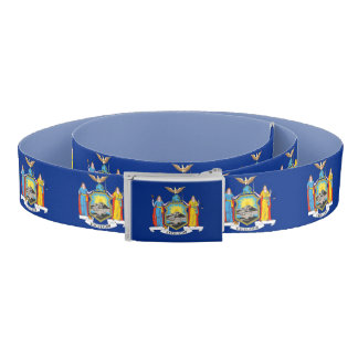 Patriotic Belt with flag of New York, USA