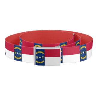 Patriotic Belt with flag of North Carolina, USA