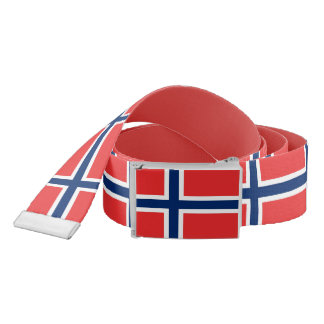 Patriotic Belt with flag of Norway