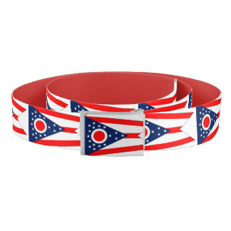 Patriotic Belt with flag of Ohio, USA