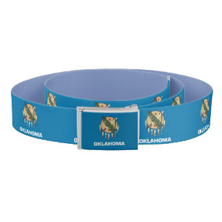 Patriotic Belt with flag of Oklahoma, USA