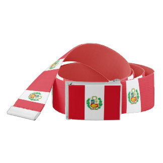 Patriotic Belt with flag of Peru