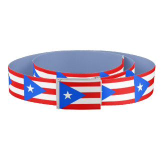 Patriotic Belt with flag of Puerto Rico, USA
