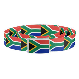Patriotic Belt with flag of South Africa