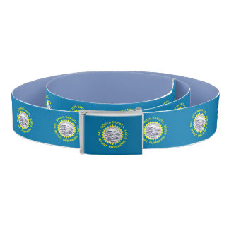 Patriotic Belt with flag of South Dakota, USA