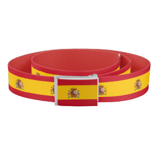 Patriotic Belt with flag of Spain