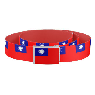Patriotic Belt with flag of Taiwan