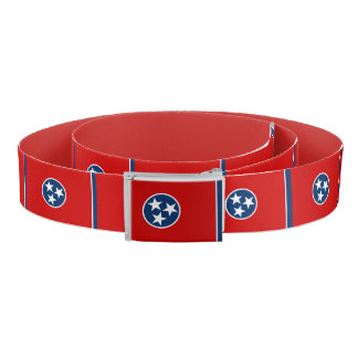 Patriotic Belt with flag of Tennessee, USA