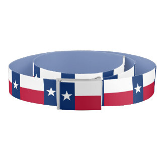 Patriotic Belt with flag of Texas, USA
