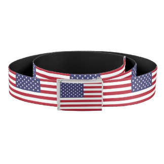 Patriotic Belt with flag of U.S.A.