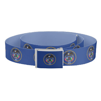 Patriotic Belt with flag of Utah, USA
