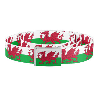 Patriotic Belt with flag of Wales