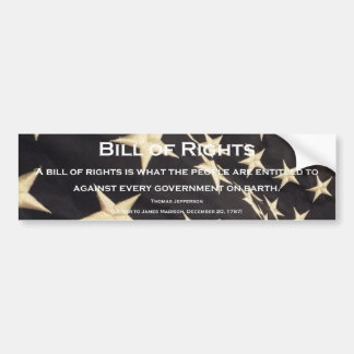 "Patriotic ""Bill of Rights"" Bumper Sticker"