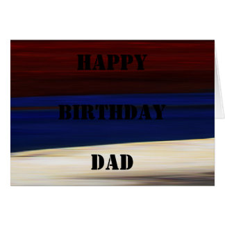 Patriotic Birthday ~ Card Red White Blue