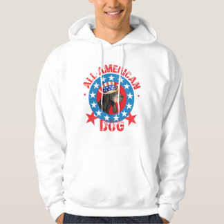 Patriotic Black and Tan Coonhound Hoodie