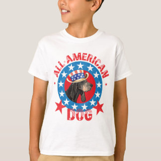 Patriotic Black and Tan Coonhound T-Shirt