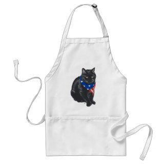 Patriotic Black Cat Standard Apron
