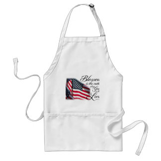 Patriotic Blessed is the Nation Standard Apron