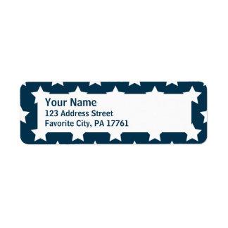 Patriotic Blue Stars Return Address Labels