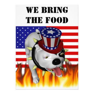 Patriotic BoBo 2 Personalized Invitations