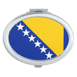 Patriotic Bosnia Herzegovina Flag Makeup Mirror