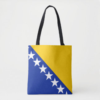Patriotic Bosnia Herzegovina Flag Tote Bag