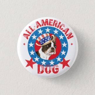 Patriotic Boston Terrier 3 Cm Round Badge