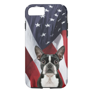 Patriotic Boston Terrier iPhone 8/7 Case