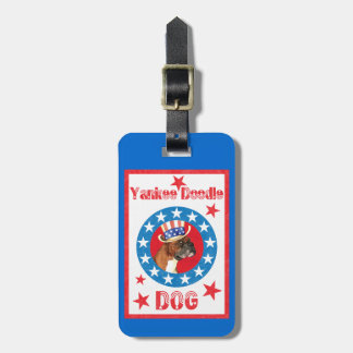 Patriotic Boxer Luggage Tag