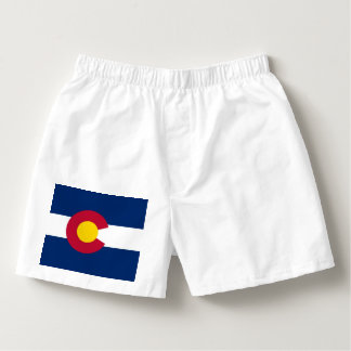 Patriotic Boxers with Flag of Colorado state