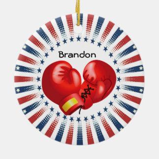 Patriotic Boxing Design Ornament