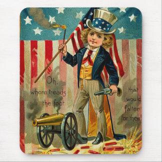 Patriotic Boy Mousepad