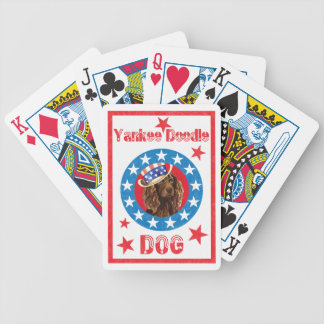 Patriotic Boykin Spaniel Bicycle Playing Cards