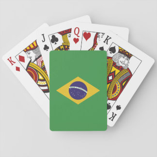 Patriotic Brazil Flag Playing Cards