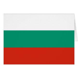 Patriotic Bulgarian Flag Card