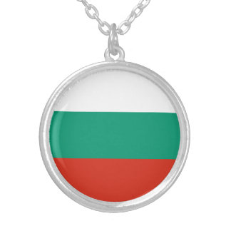 Patriotic Bulgarian Flag Silver Plated Necklace