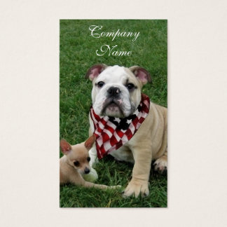 patriotic bulldog business card