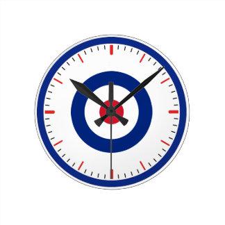 Patriotic Bullseye Wall Clock
