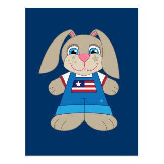 Patriotic Bunny Postcard