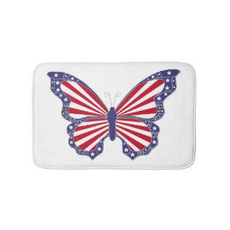 Patriotic Butterfly Bath Mat
