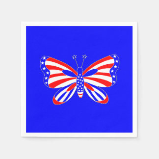 Patriotic Butterfly Paper Napkin