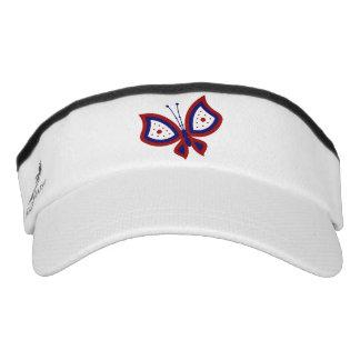 Patriotic Butterfly Sport Sun Visor