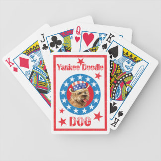 Patriotic Cairn Terrier Bicycle Playing Cards