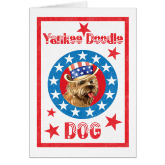 Patriotic Cairn Terrier Card